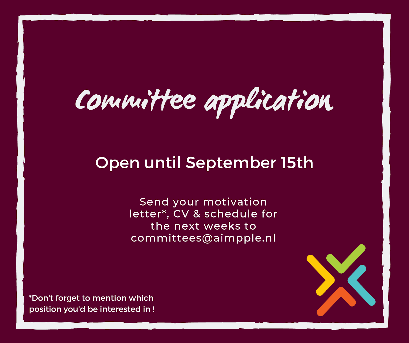 Committee Applications Open!