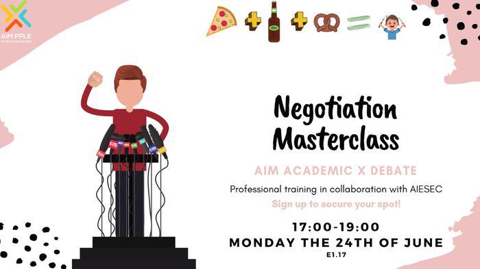 Academic x Debate: Negotiation Masterclass